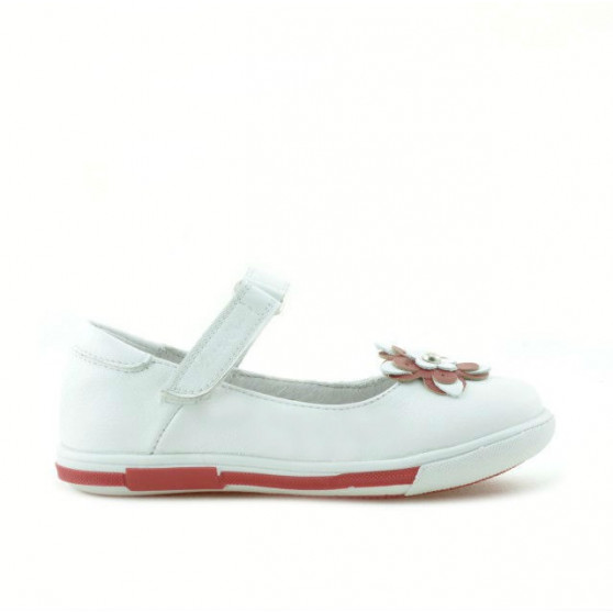 Small children shoes 06c white+red