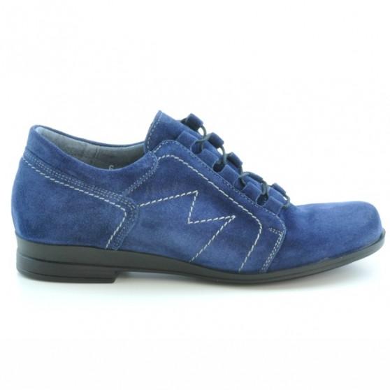 Women casual shoes 608 indigo velour