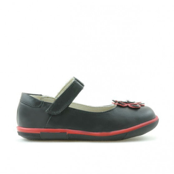 Small children shoes 06c black + red