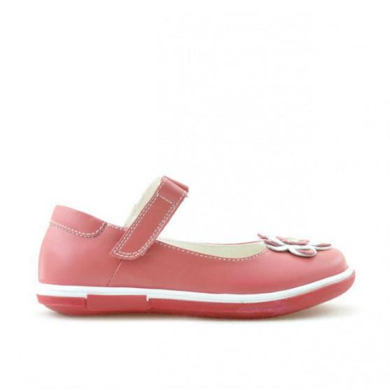 Pantofi copii mici 06c rosu corai+alb