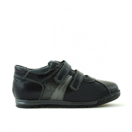 Pantofi copii mici 02c negru + gri