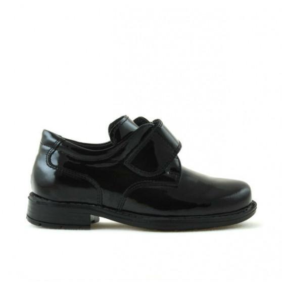 Pantofi copii mici 14c lac negru