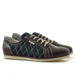 Pantofi sport dama 648 bordo+indigo