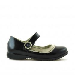 Pantofi copii mici 19c lac negru+bej