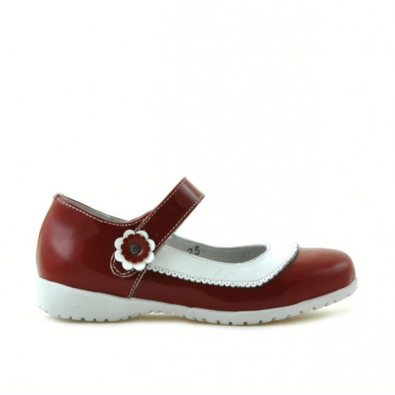 Small children shoes 19c patent red+white