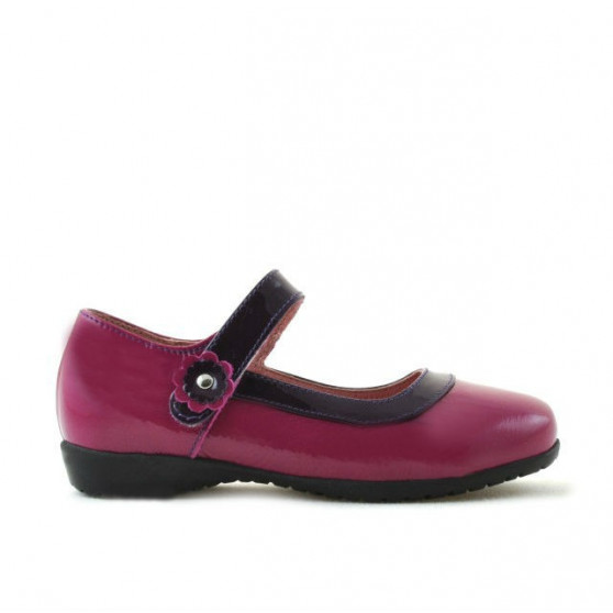 Pantofi copii mici 19c lac roz+mov