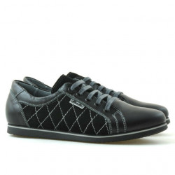 Pantofi sport dama 648 negru combinat