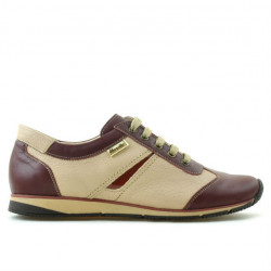 Pantofi sport dama 196 bordo+bej