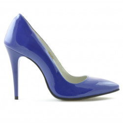Women stylish, elegant shoes 1241 patent blue