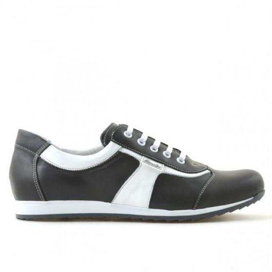Pantofi sport dama 191 gri+alb