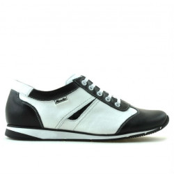 Women sport shoes 196 black+white
