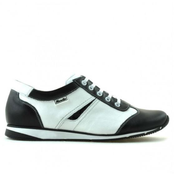 Women sport shoes 196 black+white