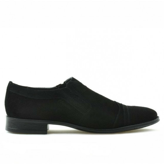 Teenagers stylish, elegant shoes 389 black velour