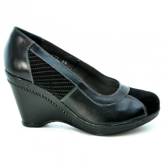 Women casual shoes 174 black combined