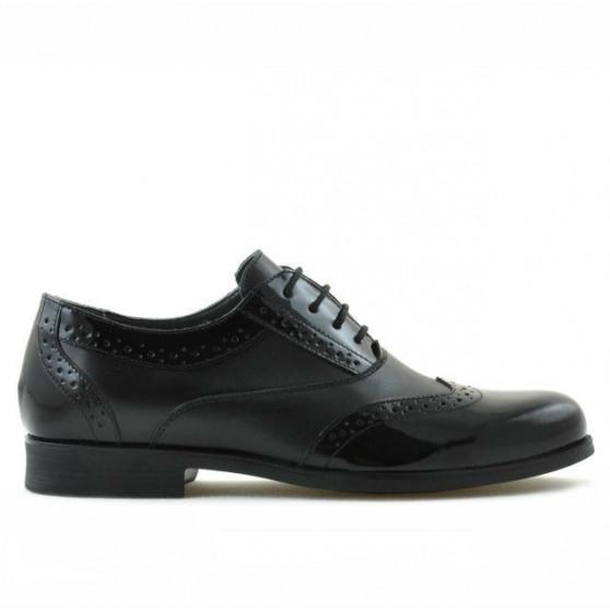 Teenagers stylish, elegant shoes 393 patent black combined