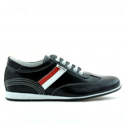Pantofi sport adolescenti 394 negru+alb