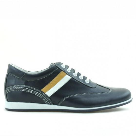 Teenagers stylish, elegant shoes 394 indigo+white