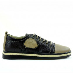 Pantofi sport adolescenti 392 nisip+cafe