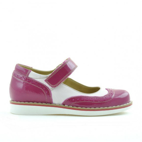 Children shoes 153 patent fucsia combined