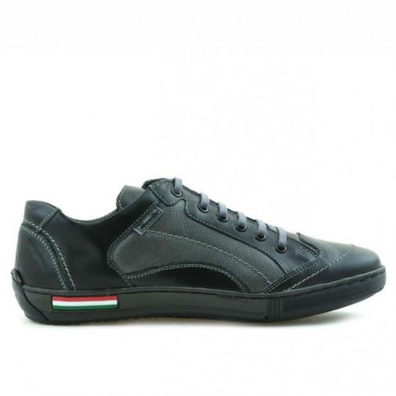 Pantofi sport adolescenti 307 negru+gri
