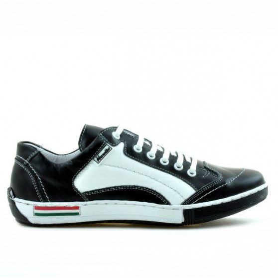Teenagers stylish, elegant shoes 307 black+white