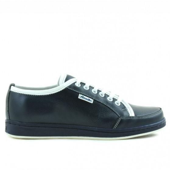 Teenagers stylish, elegant shoes 312 indigo+white