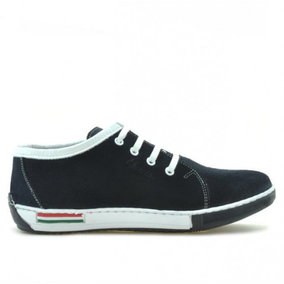 Teenagers stylish, elegant shoes 309 indigo velour