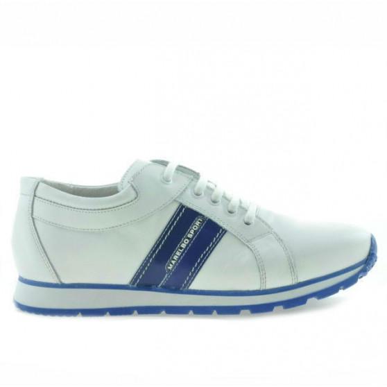 Teenagers stylish, elegant shoes 311 white+indigo