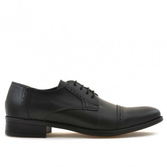Men stylish, elegant shoes 803 black