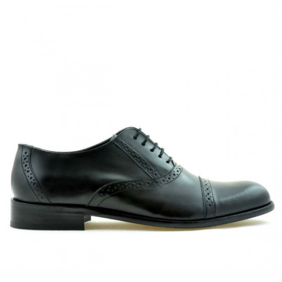 Men stylish, elegant shoes 801 black florantic