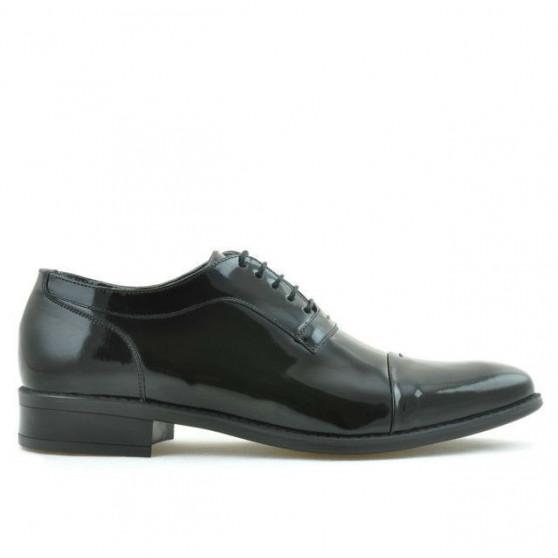 Men stylish, elegant shoes 802 patent black