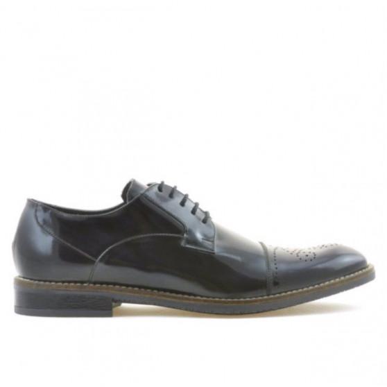 Men stylish, elegant shoes 814 a indigo