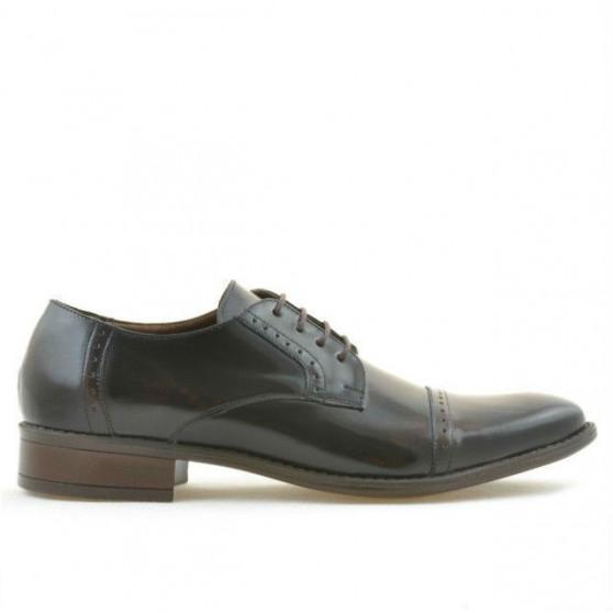 Men stylish, elegant shoes 803 a brown