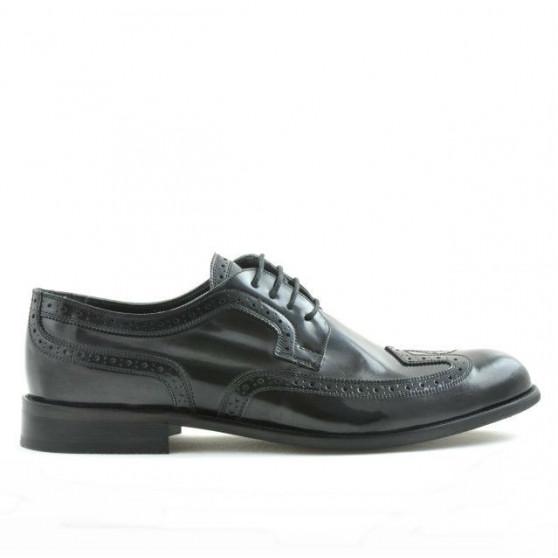 Men stylish, elegant shoes 799 indigo florantic