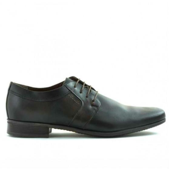 Men stylish, elegant shoes 786 a brown
