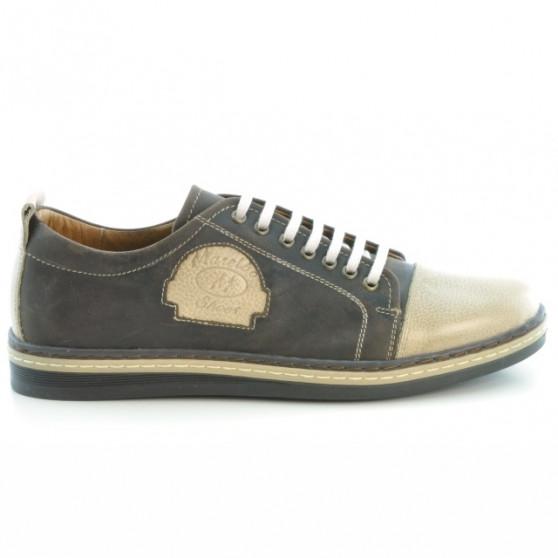 Pantofi casual / sport barbati 766 tuxon cafe+tuxon nisip