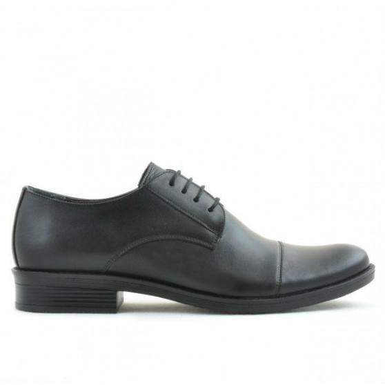 Men stylish, elegant shoes 787 black