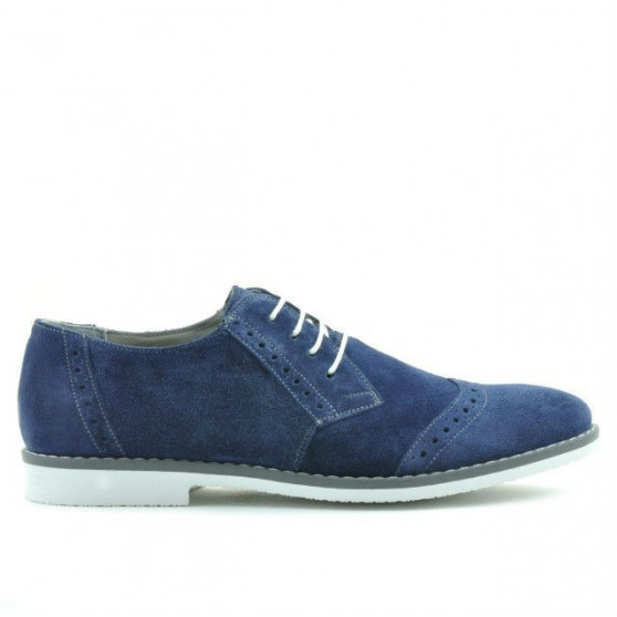 Men stylish, elegant, casual shoes 746 indigo velour
