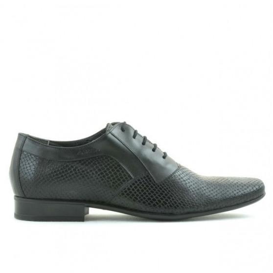 Pantofi eleganti barbati 798 negru combinat
