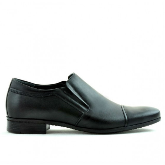 Men stylish, elegant shoes 740 black