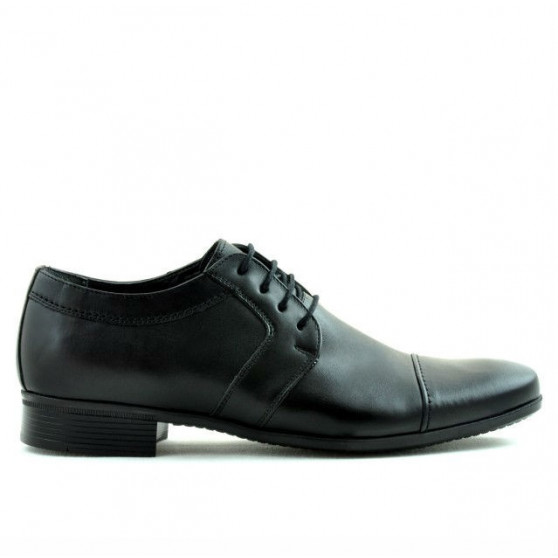 Men stylish, elegant shoes 742 black