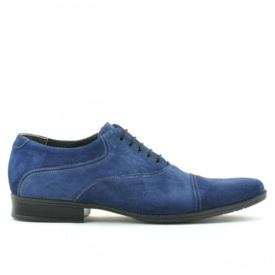 Men stylish, elegant, casual shoes 738 indigo velour