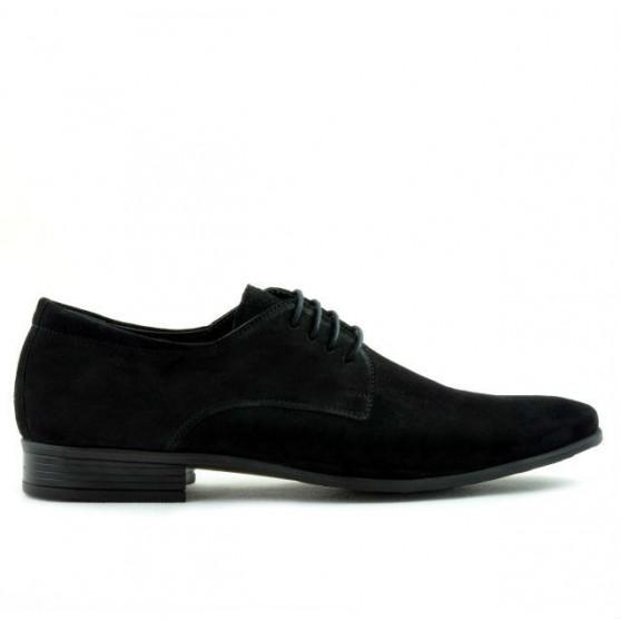 Men stylish, elegant shoes 786 black velour