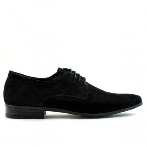 Pantofi eleganti barbati 786 negru velur