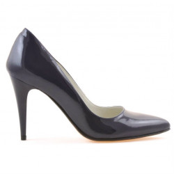 Women stylish, elegant shoes 1246 patent indigo