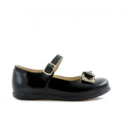Small children shoes 51c patent black+beige