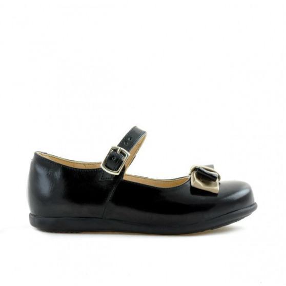 Pantofi copii mici 51c lac negru+bej