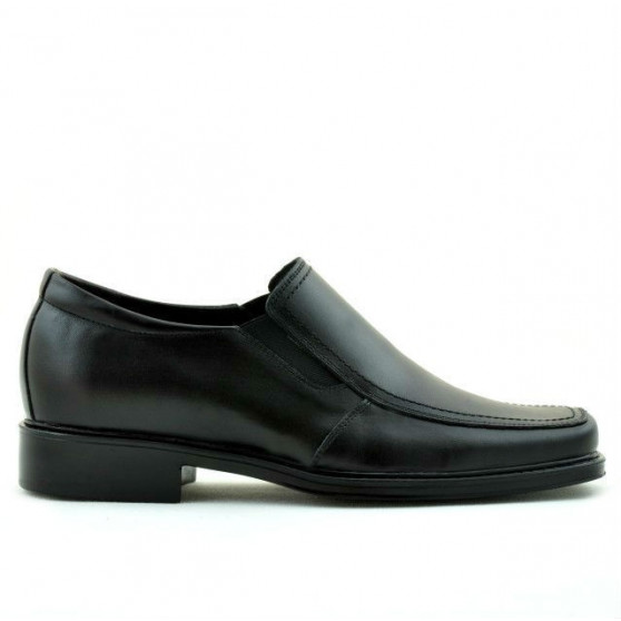 Men stylish, elegant shoes 789 black
