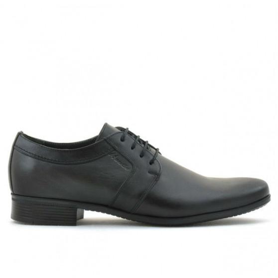 Men stylish, elegant shoes 743 black