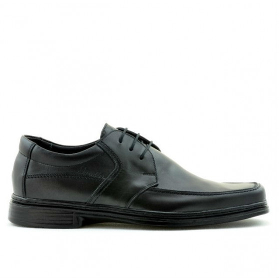 Men stylish, elegant shoes 936 black